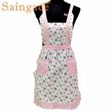 Saingace Women Lady Restaurant Home Kitchen For Pocket Cotton Cooking Apron Bib quality first(China)