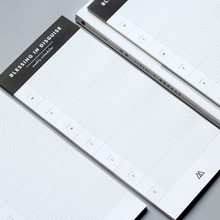 Weekly & Daily Schedule Desk Planner Memo Pad Sticky Notes Bookmark School Office Supply, Planner Pad 54 Pages ,130mm x 295mm