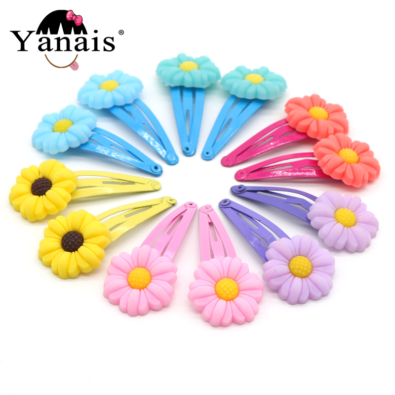 12pcs/set Flower Hair Clips Hair Bands For Girls K...