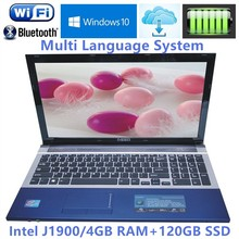"4GB RAM+120GB SSD 15.6"" Gaming Laptop Intel J1900 Quad Core Windows10 Notebook PC Laptops Computer with DVD ROM Wifi webcam HDMI"