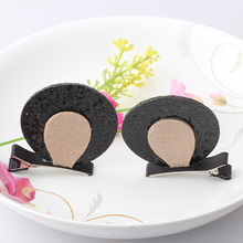1Lot=2Pcs Leather Ear Style Baby Hair Clip Hair Accessories Children Infant Hairgrips Summer Style Hairpins Headband Barrettes