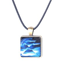 Hot 2017 Glowing Crystal Glow in the Dark Pyramid Pendant Outer Space Star Dust Necklace Triangle Geometric Magic Necklace(China)