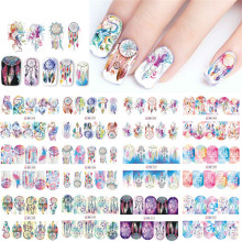 SWEET TREND 12 Designs Russia Traditional Watermark Nail Art Stickers Windmill/Owl/Feather Nail Decals Full Wraps LABN301-312