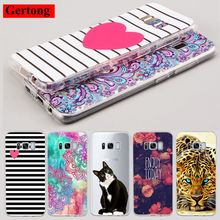 GerTong Clear TPU Phone Case For Samsung Galaxy S8 Plus S7 S6 Edge S5 S4 S3 Grand Prime Slim Cover Shell Bags Tiger Lovely Cat