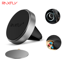 RAXFLY Car Holder Magnetic Air Vent Mount Magnet Smartphone Dock Mobile Car Phone Holder Cellphone GPS Dock 360 Rotation Stand(China)