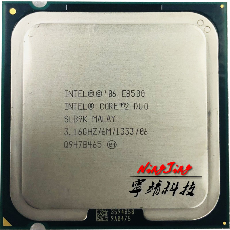 Intel Core 2 Duo E8500 3.1 GHz Dual-Core CPU Processor 6M 65W  LGA 775 title=