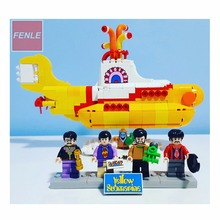 2017 Lepin 21012 The Beatles John Winston Lennon Paul McCartney Harrison Ringo Starr Yellow Submarine Building Blocks Models Toy