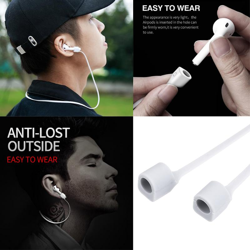1 pc Magnetic Headphone Earphone StrapfFor Apple Airpods Anti Lost Strap Loop String Rope for Air Pods Silicone Headset Cable