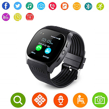 [Aaliyah] dispositivo wearable Inteligente T8 smart watch GPS SIM card TF Androidxiaomi 0.3MP relógio da câmera compatível com IOS(China)