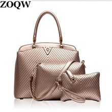 2016 3 Set/Pcs Women Bags Buy Handbag Send Shoulder Bag Clutch Practice Travel Work Shopping Multifunction Woman Bag WUJ0202