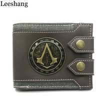 Leeshang Men's purse Assassins Creed wallet Men Wallet Small Vintage Wallet Brand High Quality Designer Short Purse DFT-1479(China)