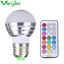 5W RGBW LED Bulb E27 Dimmable LED Spot Light RGB White LED Lamp Spotlight with IR Remote Controller(China)