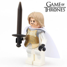 Single Sale HBO TV Game of Thrones A Song of Ice and Fire Knight Jaime Lannister minifig Assemble Building Blocks Kids Toys Gift(China)