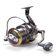 Free Shipping 10+1 BB Big Game Spinning Fishing Reel AFL 8000 10000 Long Shot Fish Saltwater YOMORES