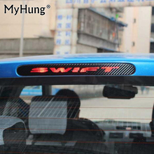 for Suzuki Swift Additional Brake Light Sticker Styling Carbon Fiber Brake light Sticker Car Decorative Cover car accessories(China)