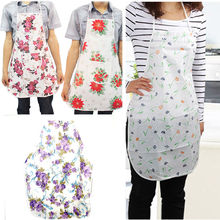 Hot Useful Household Lady Women Flower Apron Home Kitchen Restaurant Waterproof Cooking Dress Practical Aprons High Quality