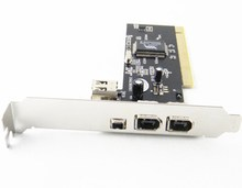3+1 Port 1394 PCI Card Adapter via Firewire PCI Capture Card For DV Video(China)
