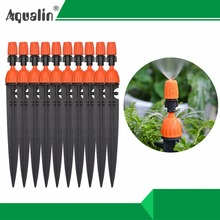 1Lot 10PCS Multifunctional Adjustable 8 Outlets Spray Dripper Irrigation Sprinklers Watering kits Drip Irrigation System#26301-N(China)