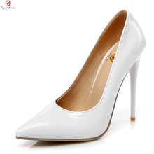 Original Intention New Sexy Women Pumps Fashion Pointed Toe Thin High Heel Pumps Stylish 7 Colors Shoes Woman Plus US Size 4-15(China)