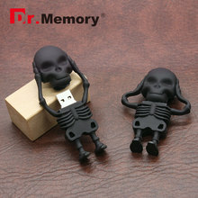 Dr.Memory Cool Skeleton Alien USB Flash Drive 32GB/16GB/8GB USB 2.0 Pen Drive Download Memory U Disk High Speed Pendrive Stick(China)