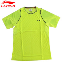 Li-Ning Men's Match Badminton Shirts Li Ning Quick Dry Comfortable Sports T Shirt Tee Jersey Lining Table Tennis Tops AAYK303(China)