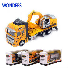 Manufacturers specials Excavator Diecast cars, 1:48 alloy construction Crane vehicles truck best gift(China)