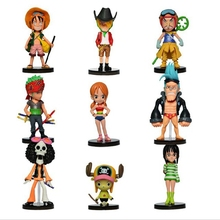 9pcs/set Anime One Piece Mini Figures 2 Years Later PVC Action Figure Toys Free Shipping(China)