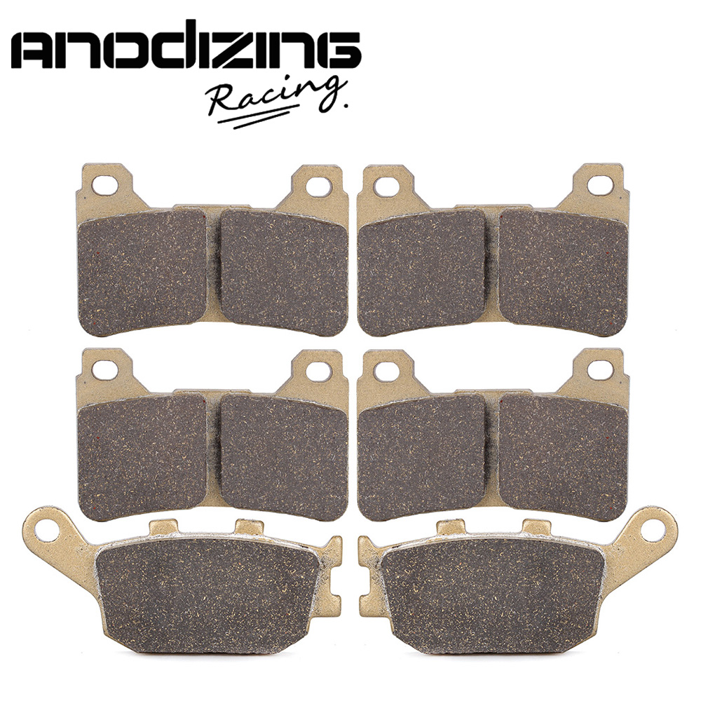 Motorcycle Front and Rear Brake Pads For HONDA CBR600RR 2005-2006 CBR1000RR 2004-2005<br>