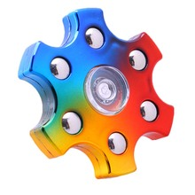 Buy 6Lef Metallic Sense Multicolor Colorful Metail Color Spinner Hand Toys Plastic EDC Spinner Fidget Autism Children Kids Toys for $2.19 in AliExpress store