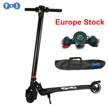FLJ Europe Stock Upgrade Foldable Electric Scooter Carbon Fiber Kick electric Scooters for Children Adult electric bike scooter(China)