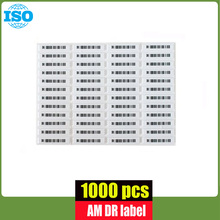 58Khz security alarm tag adhesive eas soft label with barcode 1000 piece