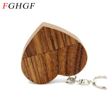 FGHGF Wooden Heart usb flash drive Memory Stick Pen Drive 4gb 8gb 16gb 32gb Company Logo customized Wedding photography gift(China)