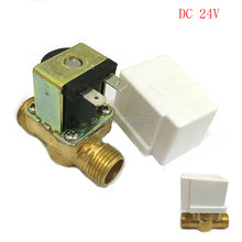1/2'' 24V DC Brass High-temperature Electric Solar Solenoid water Valve Normally Closed With Case for Heater Washer Wash Machine