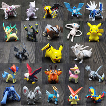 144 Pcs/lot  Hot Pikachu Action Figures Toys Cartoon Anime Mixed Gifts For Children