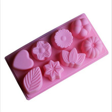 DIY Tools of Eight Different Lovely Flowers Shape Silicone Cake Mold / Pastry Mould / Jelly Pudding / Chocolate Molds / Ice