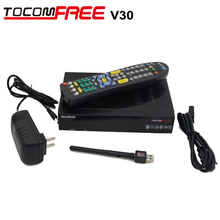 2016 Hot selling Tocomfree ultra hd V30 satellite TV receiver is same as Jynxbox V30 work best for North America(China)