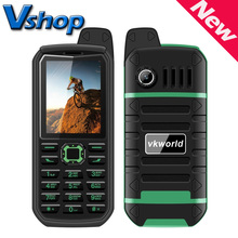 Original VKWorld Stone V3 Plus 3000mAh Cell Mobile Phone 2.4 inch Waterproof Dual SIM GSM FM Radio Flashlight Russian Keyboard(China)