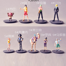 10CM Anime One Piece Mini Action Figures The Straw Hats Luffy/Roronoa/Zoro/Sanji/Chopper Figure Toys1PC