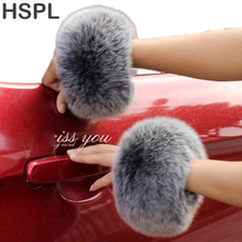 Fox fur Cuffs 2016 Hot Sale Wrist Warmer Genuine Fox Fur Cuff Arm Warmer Lady Bracelet Real Fur Wristband Glove(China)