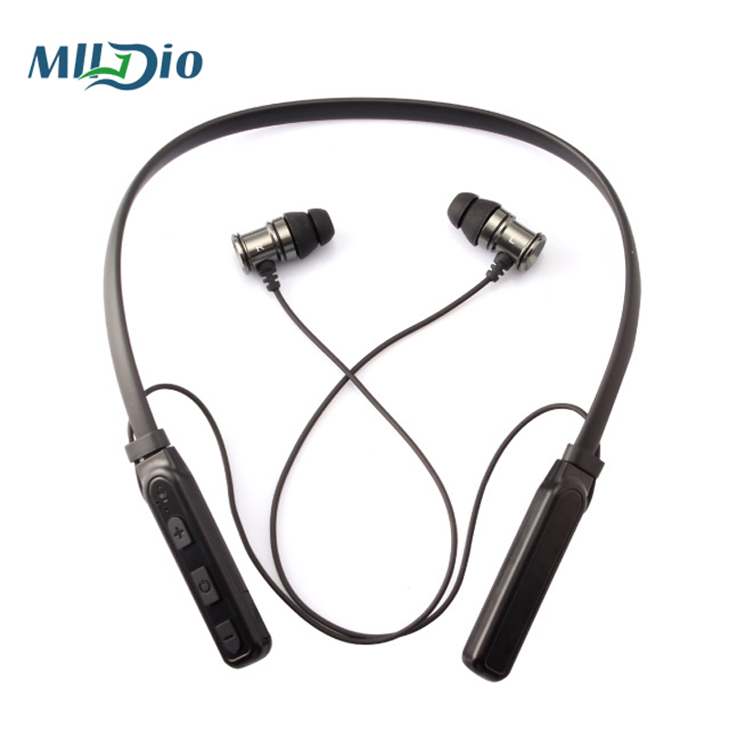 Mlldio Bluetooth Earphone Headphones with Magnet Attraction Slim Neckband Wireless stereo bass Headphone Sport Earbuds with Mic <br>
