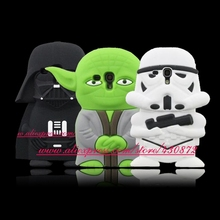 For Samsung Galaxy S3 mini I8190 HOT 3D Silicone Star Wars Darth Vader Master Yoda Phone Cover for Samsung Galaxy S Duos S7562