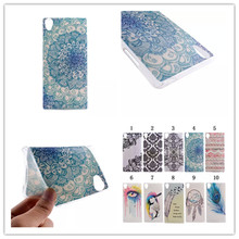 Cool Ultrathin Coloured Drawing Design TPU Soft Phones Case Cover For Sony Xperia Z2 / Z3 Soft Case Mobile Phone Accessories