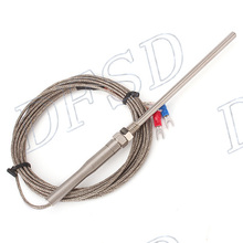 Generic New 3 Meter High Temperature -100~1250 C Thermocouple K Type 100mm Probe Sensors