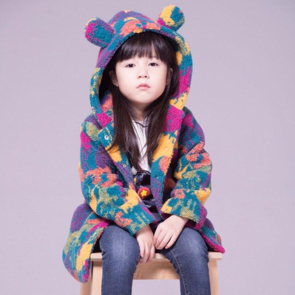 Buenos Ninos Girls Fleece Jacket Children Autumn/Winter Cashmere Windbreaker Camouflage Kids Outerwear Thick Cartoon Coat<br><br>Aliexpress
