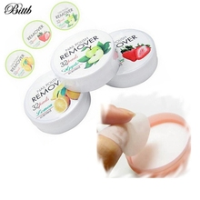 Bittb 32Pads Fruit Nail Polish Remover Wipes Tools UV Gel Nail Cleaner Cotton Nail Art Cleansing Wipes Cotton Beauty Essentials