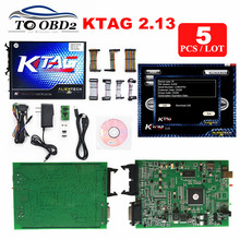 5pcs/LOT Alientech Master K TAG ECU Programming 6Languages KTAG 2.13 FW 6.070 No Tokens Limited K-TAG V2.13 For Cars/Trucks