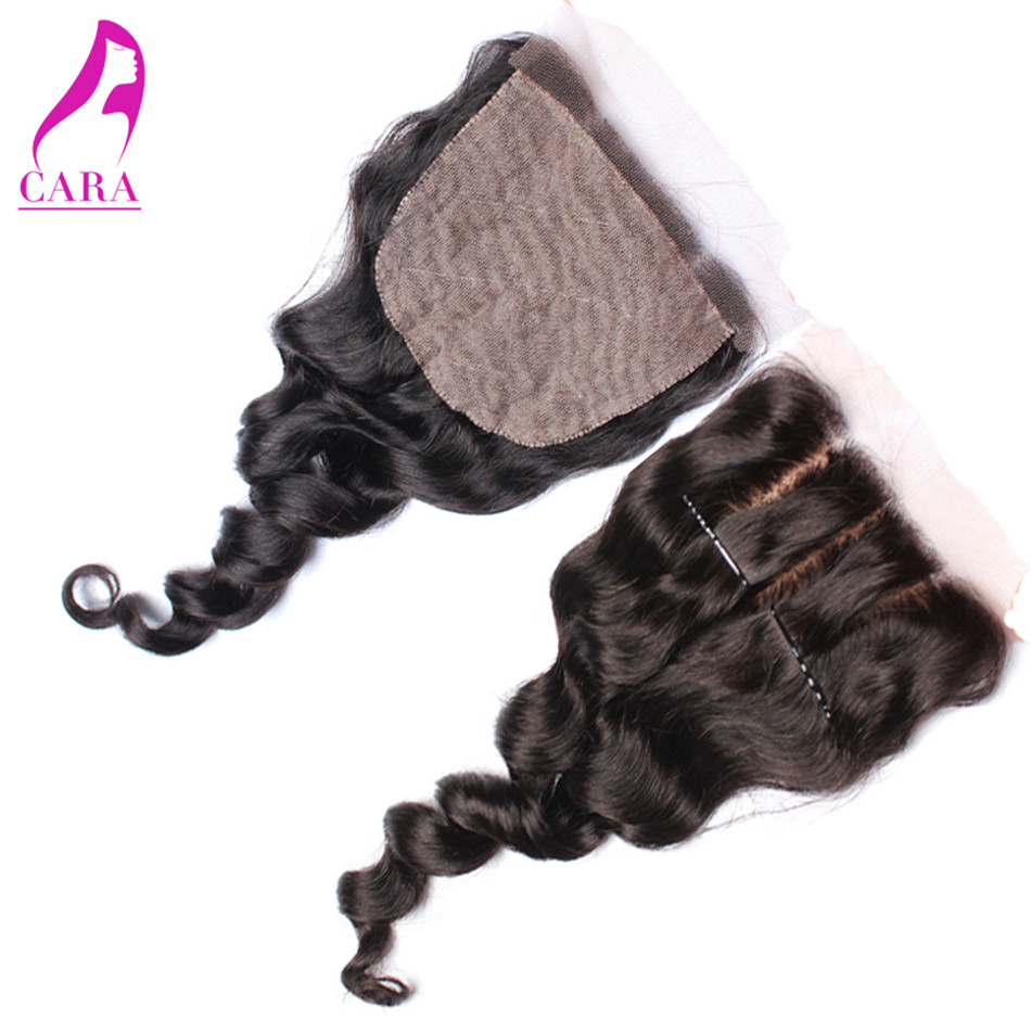 6A Peruvian Loose Wave 4x4 Bleached Knots Peruvian Silk Base Lace Closure Human Virgin Hair  Peruvian Loose Silk Base Closure<br><br>Aliexpress