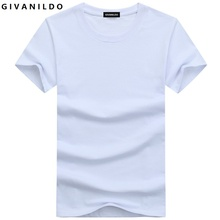 Givanildo 5XL Blank T-Shirt Men T Shirt Short Sleeve Tshirts Solid Cotton Homme Tee Shirt 4XL Hot Sale Summer Clothes BY014