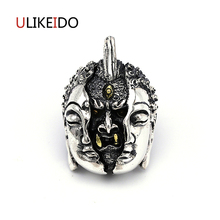 Pure 925 Sterling Silver Jewelry Buddha And Magic Charms Punk Pendants for Men Thai Silver Necklace Vintage Chain Fine Gift 648(China)