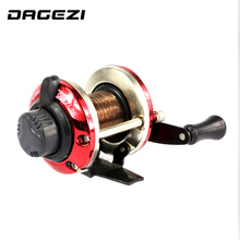 DAGEZI Right Handed-Round ice fishing reel Bait Casting Fishing Reel Saltwater Trolling Reels Trolling Carp Ice Fishing Reels
